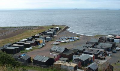 fishermens huts on the shore Buckhaven July 2001