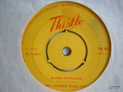 Carrick Folk Four 45 record