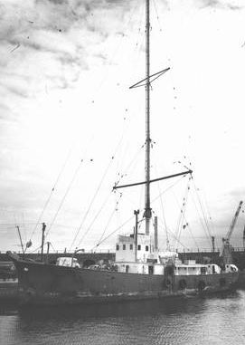 Radio Scotland tied up at Methil Docks
