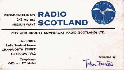 Radio Scotland business card