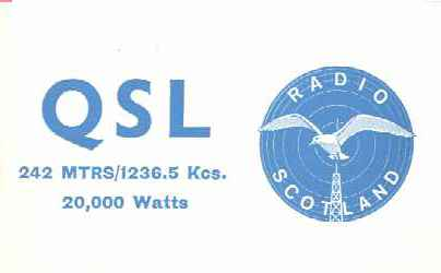 Radio Scotland QSL card